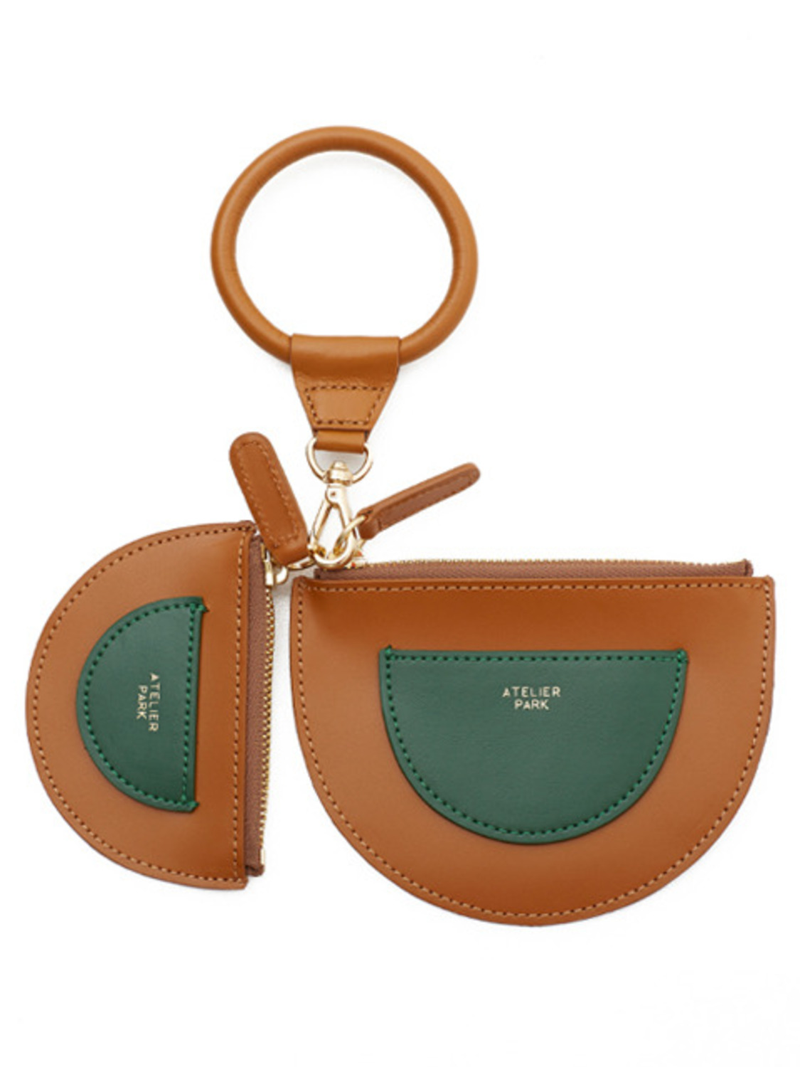 TWIN PURSE _CAMEL