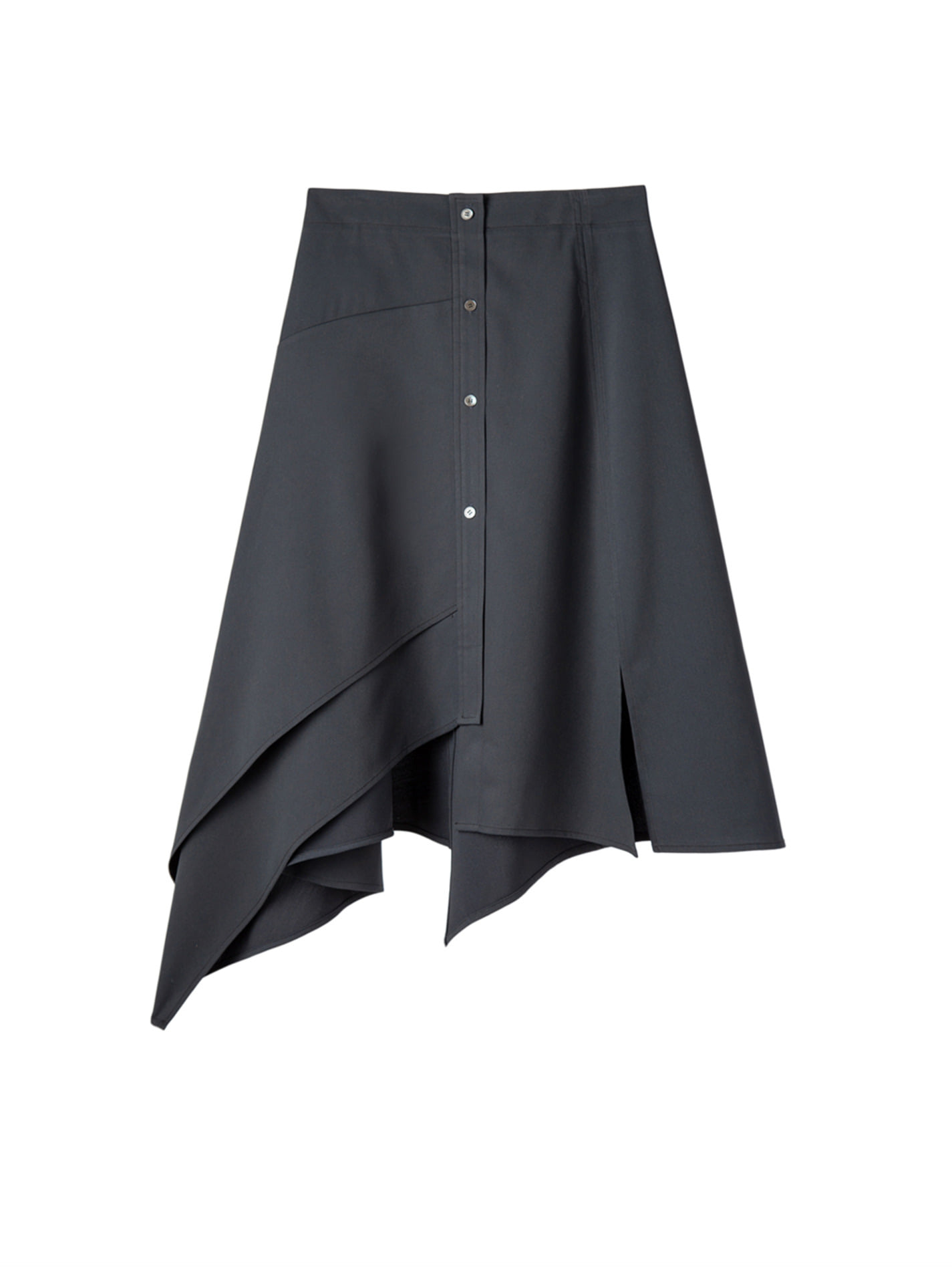 ATP Basic Line_  UNBALANCE SKIRT _Navy