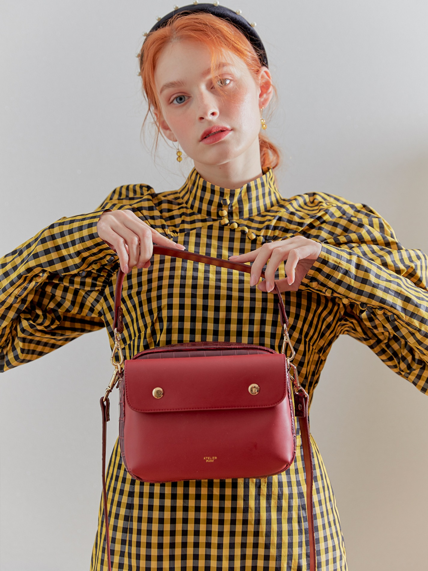 DOUBLE SIDE BAG_BIG_DEEP RED